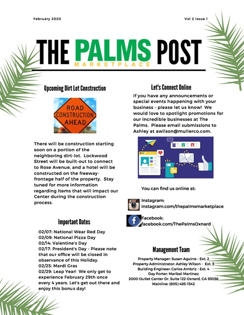 The Palms Post February 2020 Thumbnail